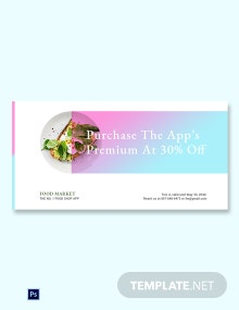 Free Food App Promotion Blog Image Template