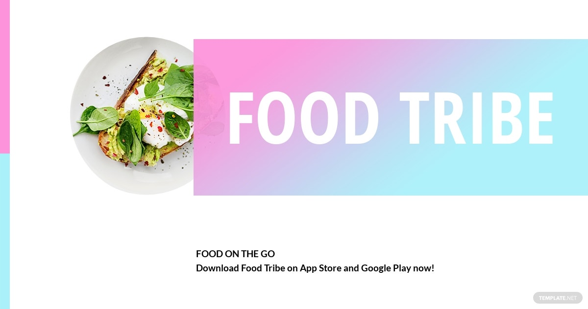 Free Food App Promotion Facebook Post Template