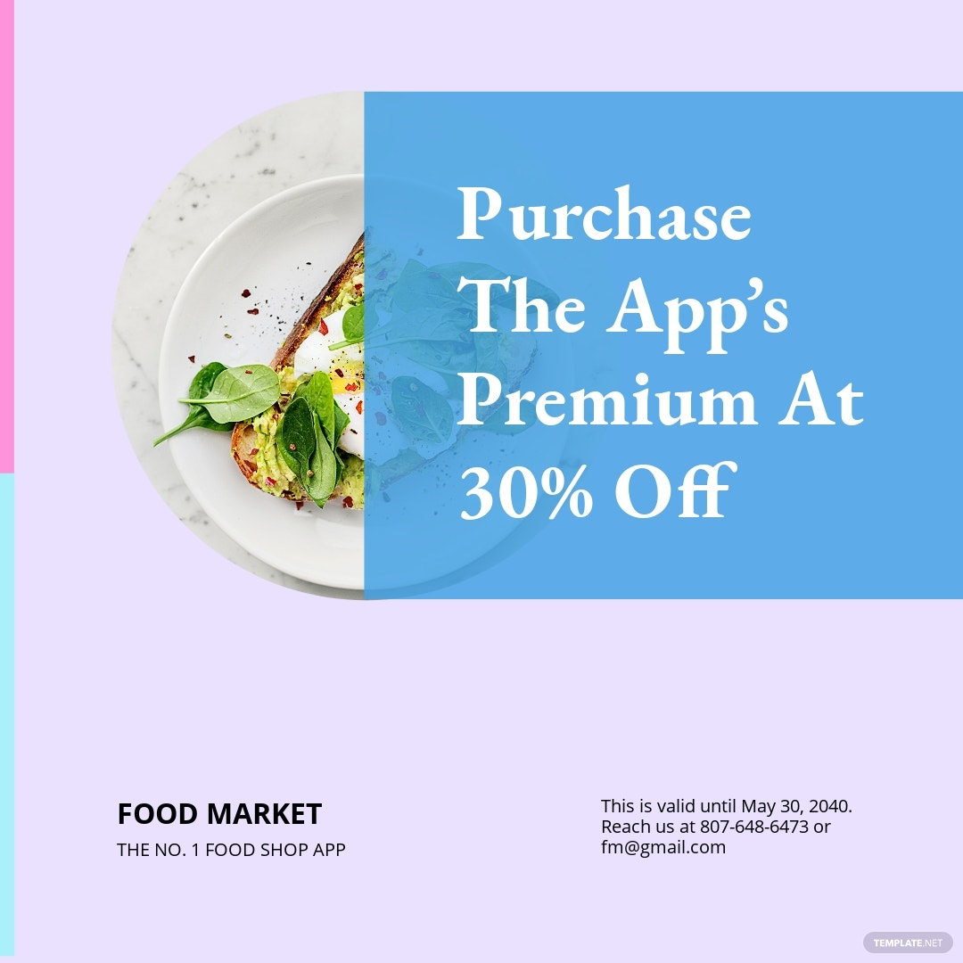 Free Food App Promotion Instagram Post Template