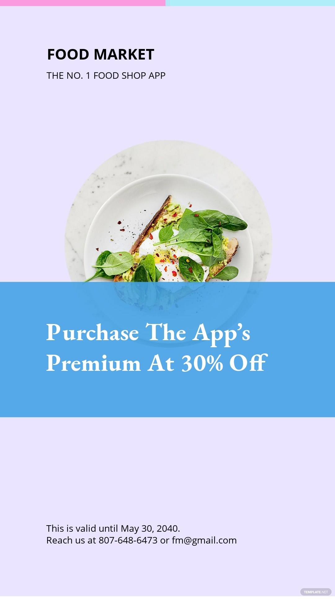 Free Food App Promotion Instagram Story Template