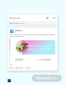 Free Food App Promotion LinkedIn Blog Post Template