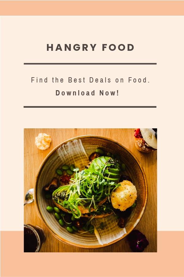 Free Food App Promotion Pinterest Pin Template.jpe