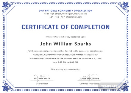 Free Certificate of Project Completion Template: Download ...