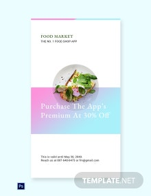 Free Food App Promotion Whatsapp Image Template