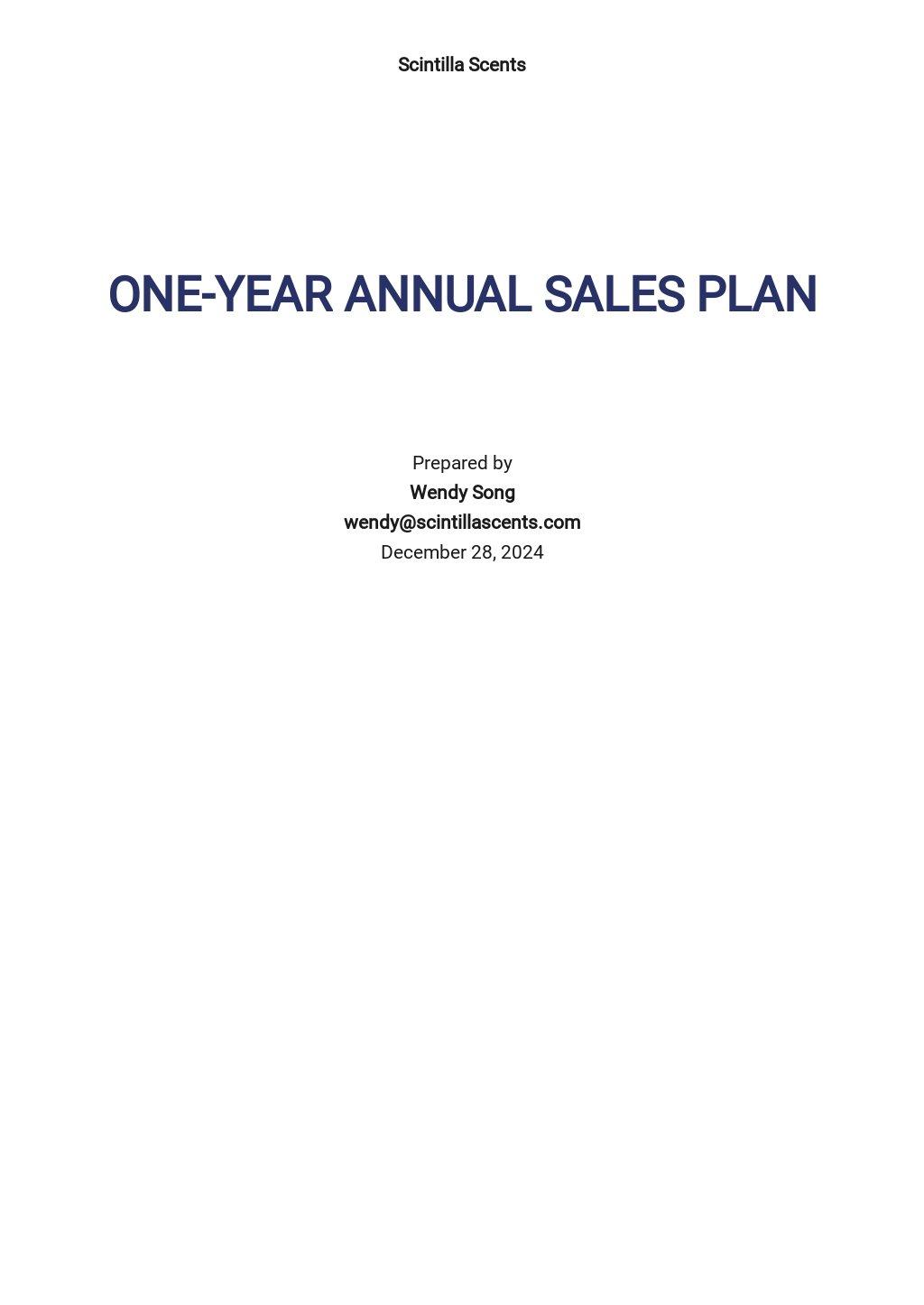 23+ FREE Yearly Plan Templates [Edit & Download ...