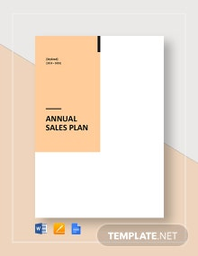 1 Year Annual Sales Plan Template