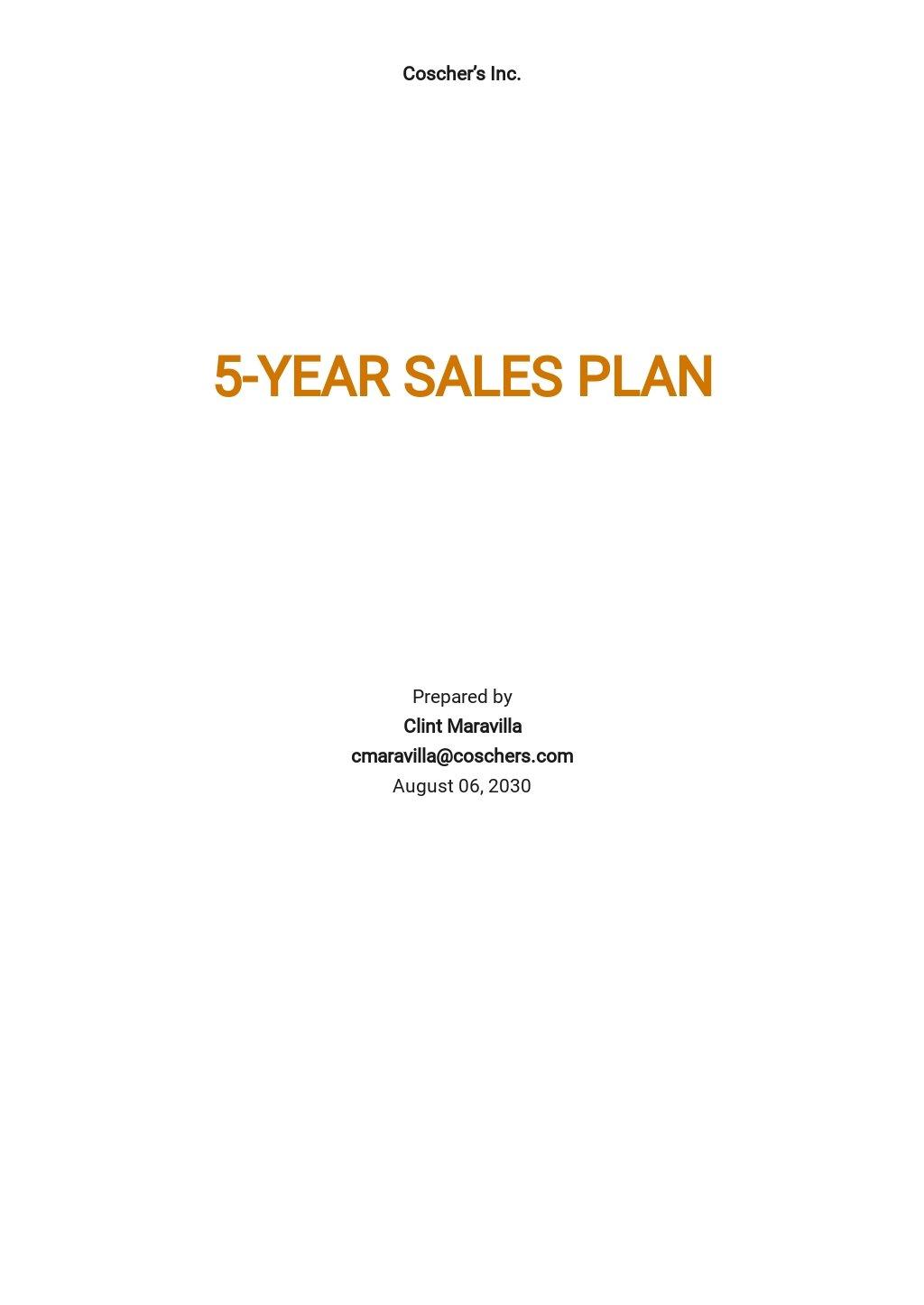 5 Year Sales Plan Template.jpe