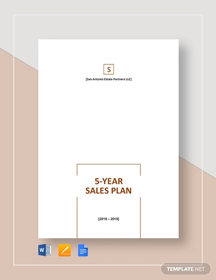 5 year sales plan