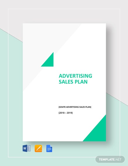 Advertising Sales Plan Template