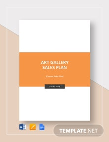 Art Gallery Sales Plan Template