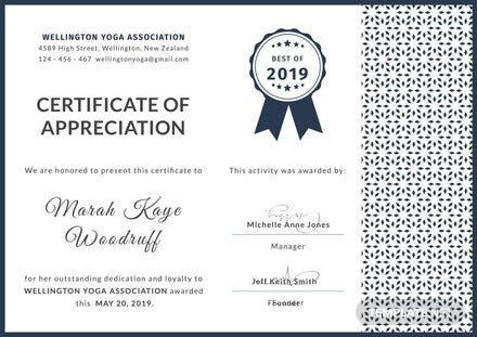 Free Customer Certificate of Appreciation Template
