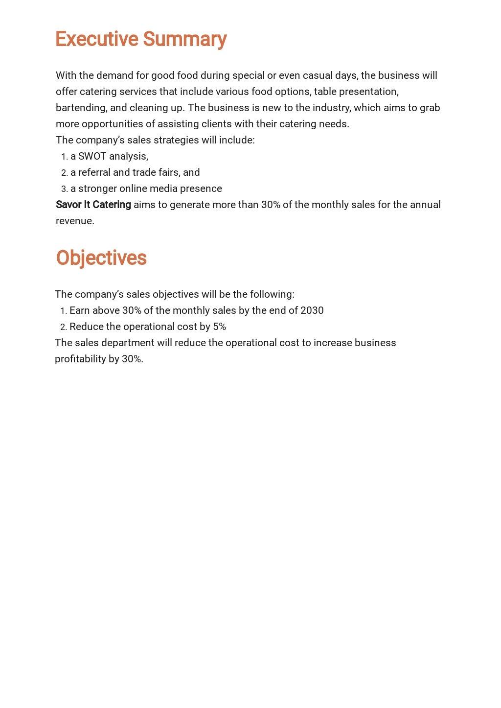 Catering Sales Plan Template 1.jpe