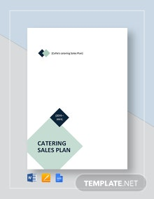 Catering Sales Plan Template