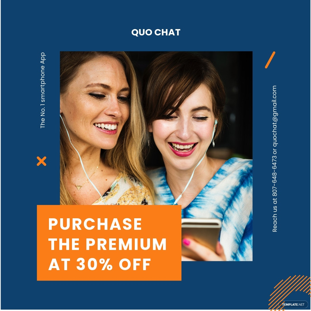 Free Smartphone App Promotion Instagram Post Template