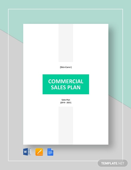 commercial sales plan