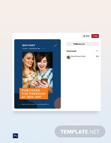 Free Smartphone App Promotion Pinterest Pin Template