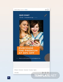Free Smartphone App Promotion Tumblr Post Template