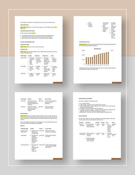 Fashion Sales Plan Download