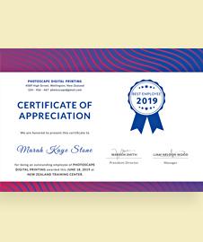 Free church certificate of appreciation template in adobe photoshop free employee certificate of appreciation template yelopaper Gallery