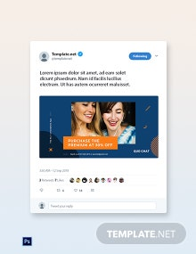 Free Smartphone App Promotion Twitter Post Template