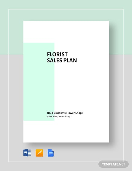 Flower Shop/Florist Sales Plan Template