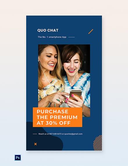 Free Smartphone App Promotion Whatsapp Image Template