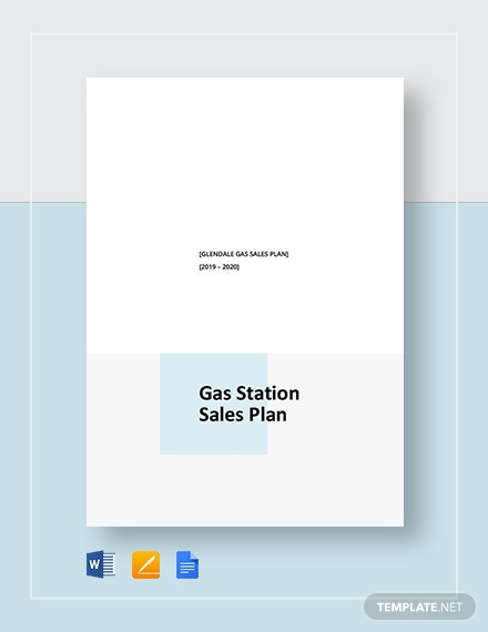 Gas Station Sales Plan Template