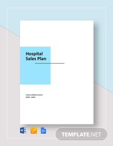 Hospital Sales Plan Template