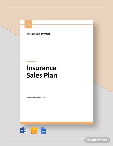 Insurance Sales Plan Template