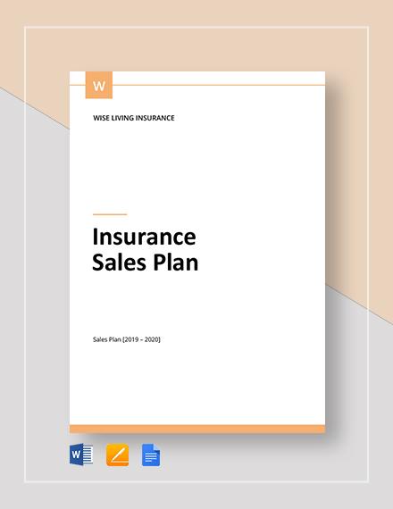 insurance sales plan