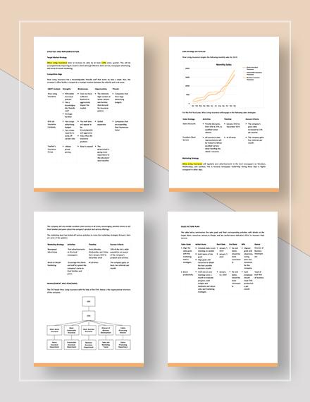 Sample Insurance Sales Plan