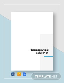 Pharmaceutical Sales Plan Template