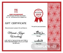 Free massage gift certificate template in adobe illustrator free gift certificate for restaurant template yadclub Image collections