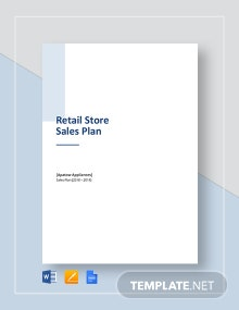 Retail Store Sales Plan Template