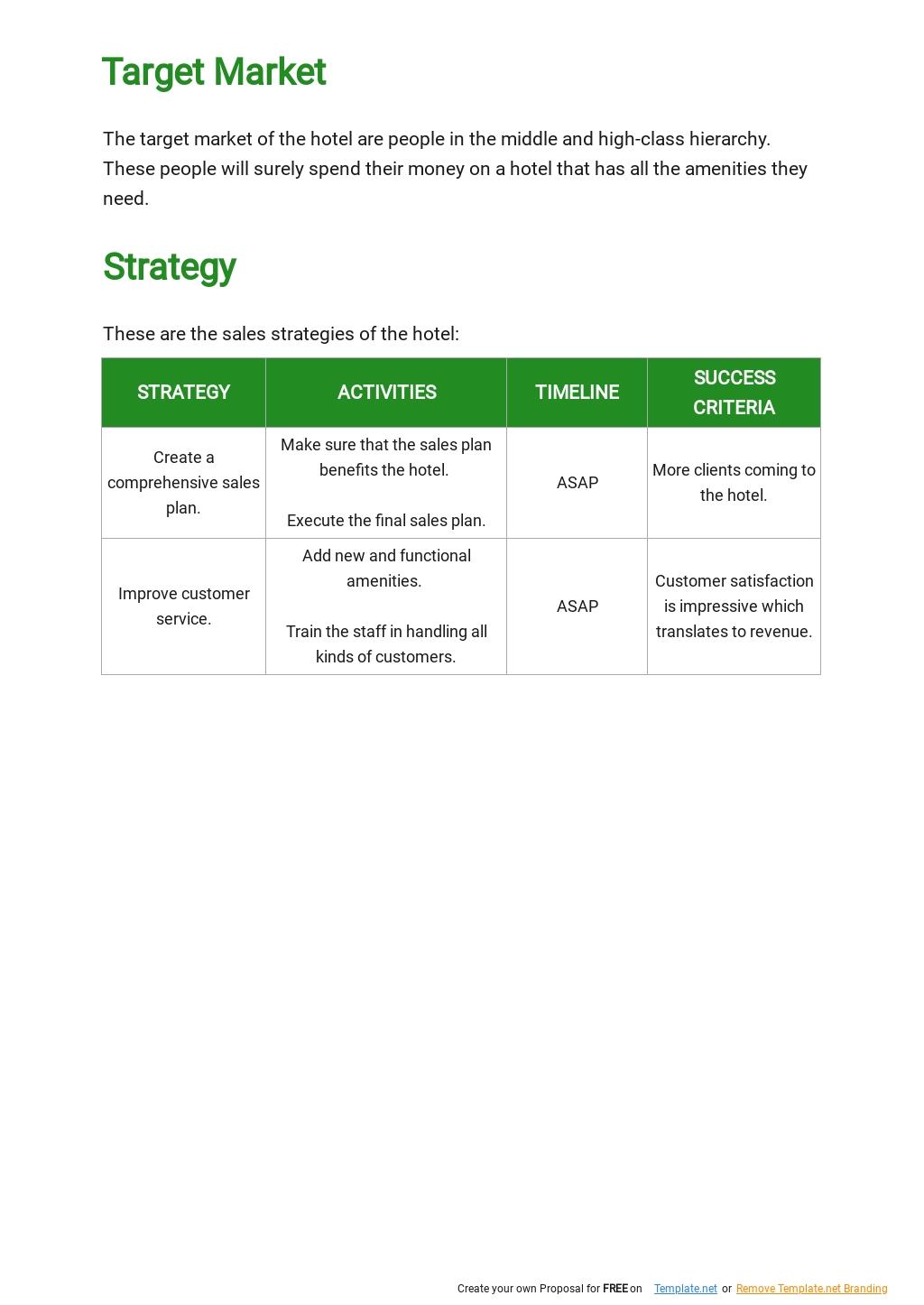 Sample Hotel Sales Plan Template 2.jpe
