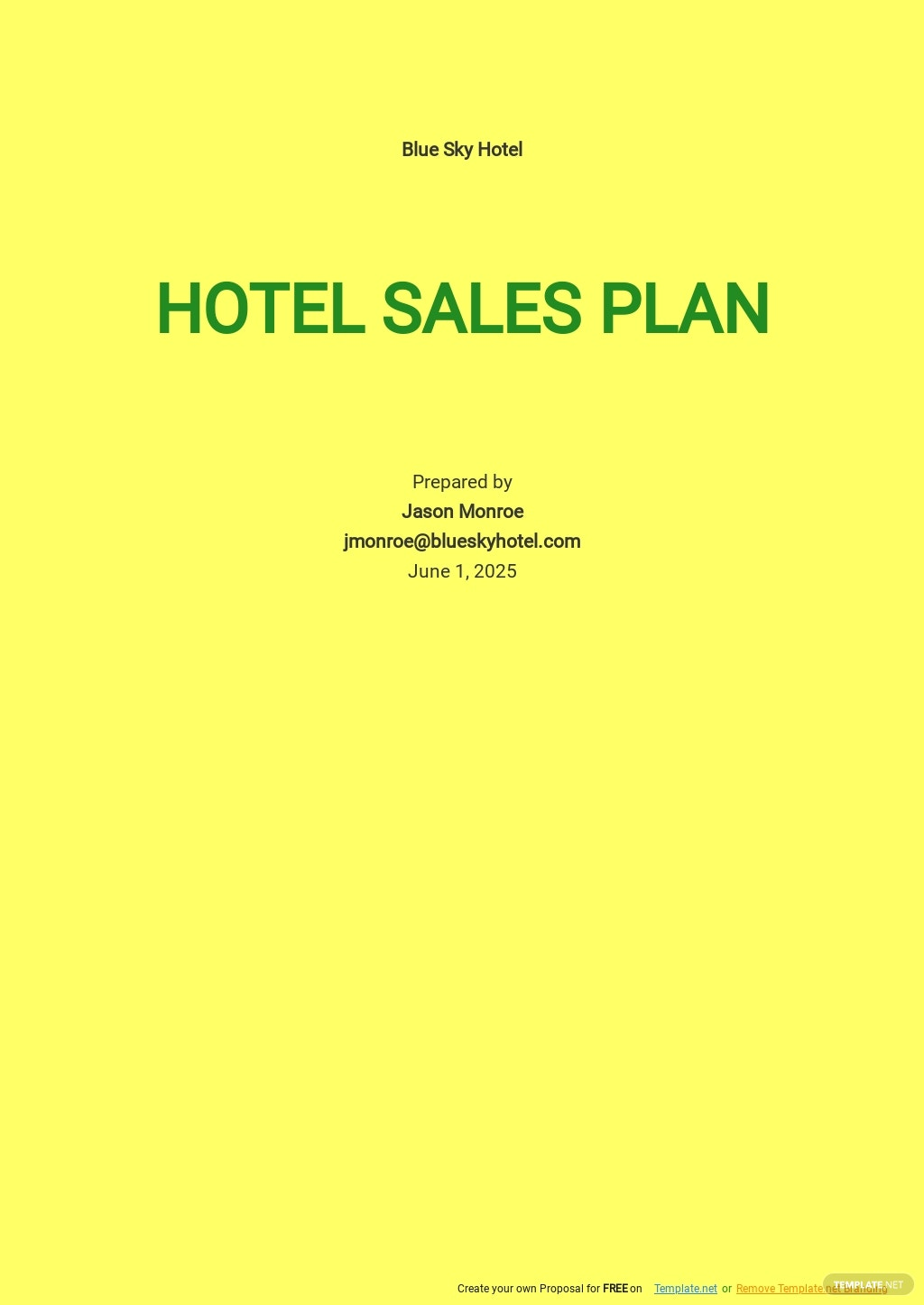 Sample Hotel Sales Plan Template.jpe