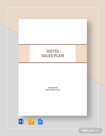 Sample Hotel Sales Plan Template