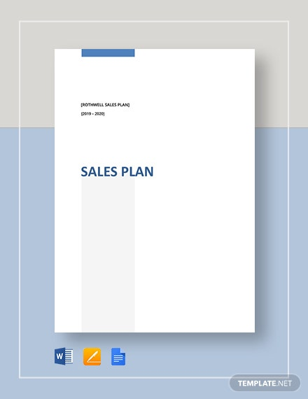Simple Sales Plan Template