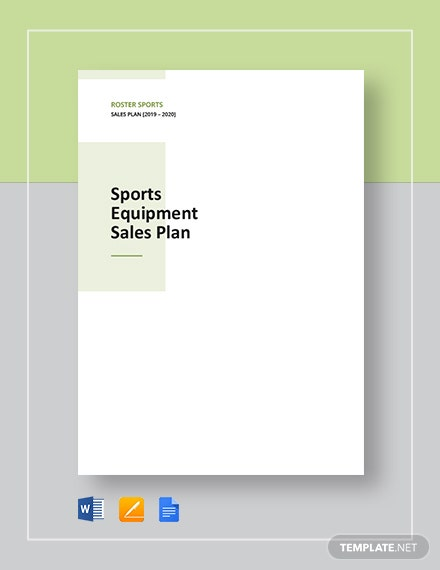 Sport Equipment Sales Plan Template