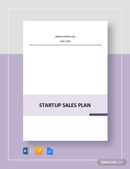 Startup Sales Plan Template