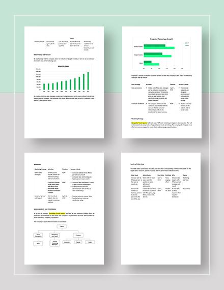 Sample Travel Agency Sales Plan