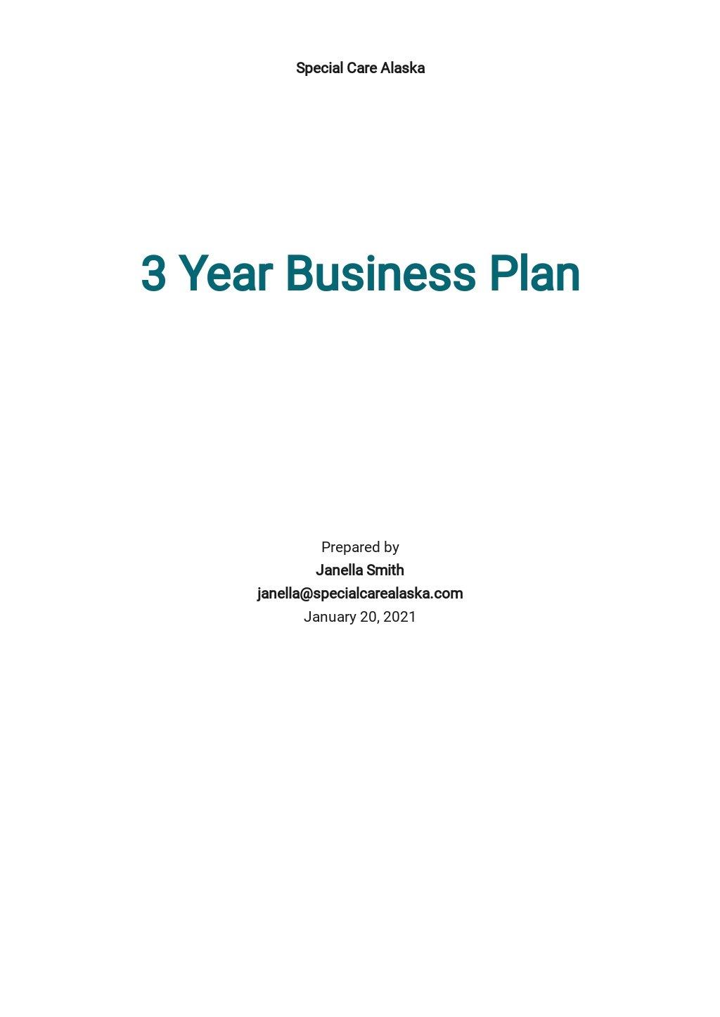 3 Year Business Plan Template.jpe