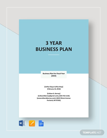 3 Year Business Plan Template
