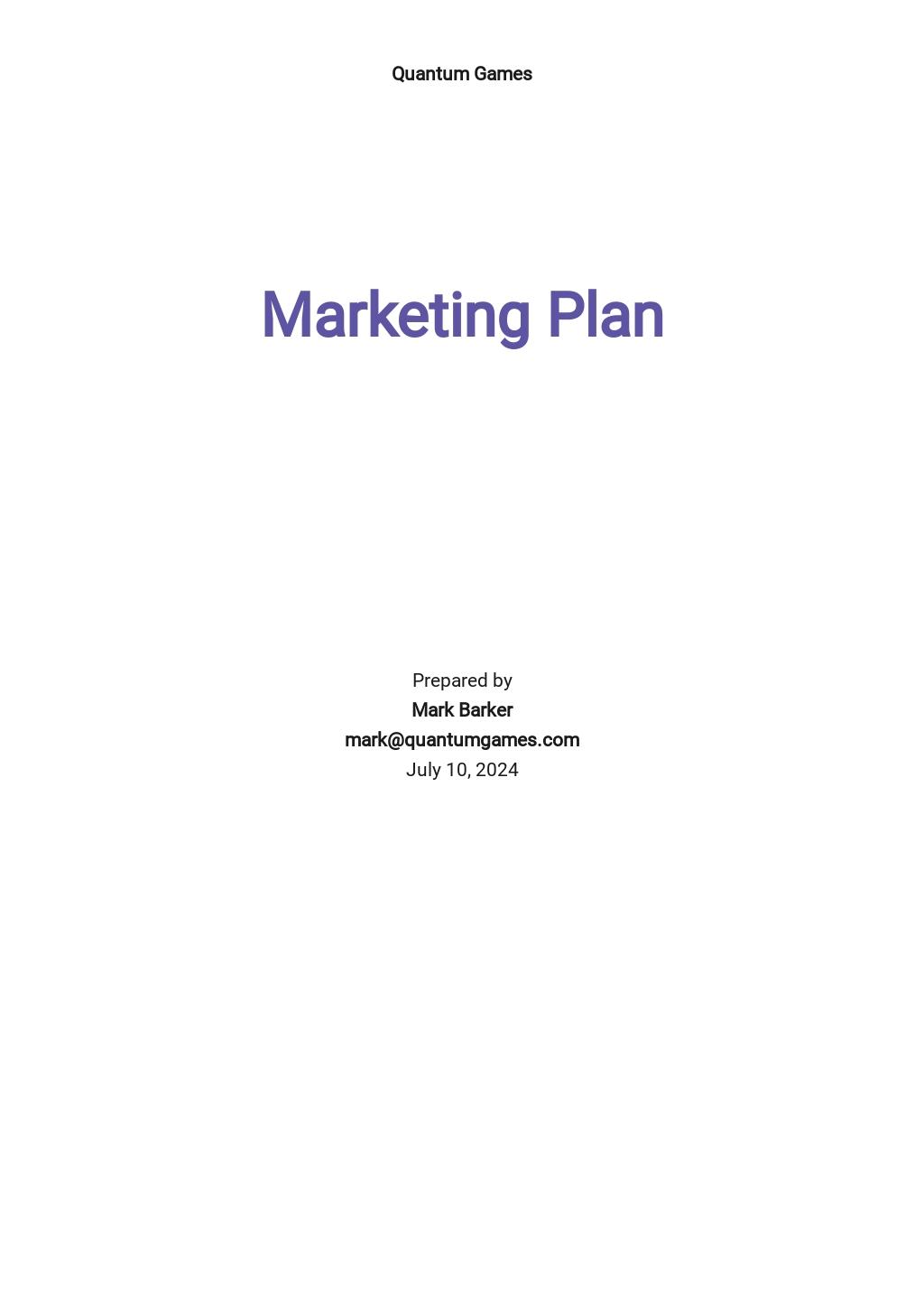 App Marketing Plan Template