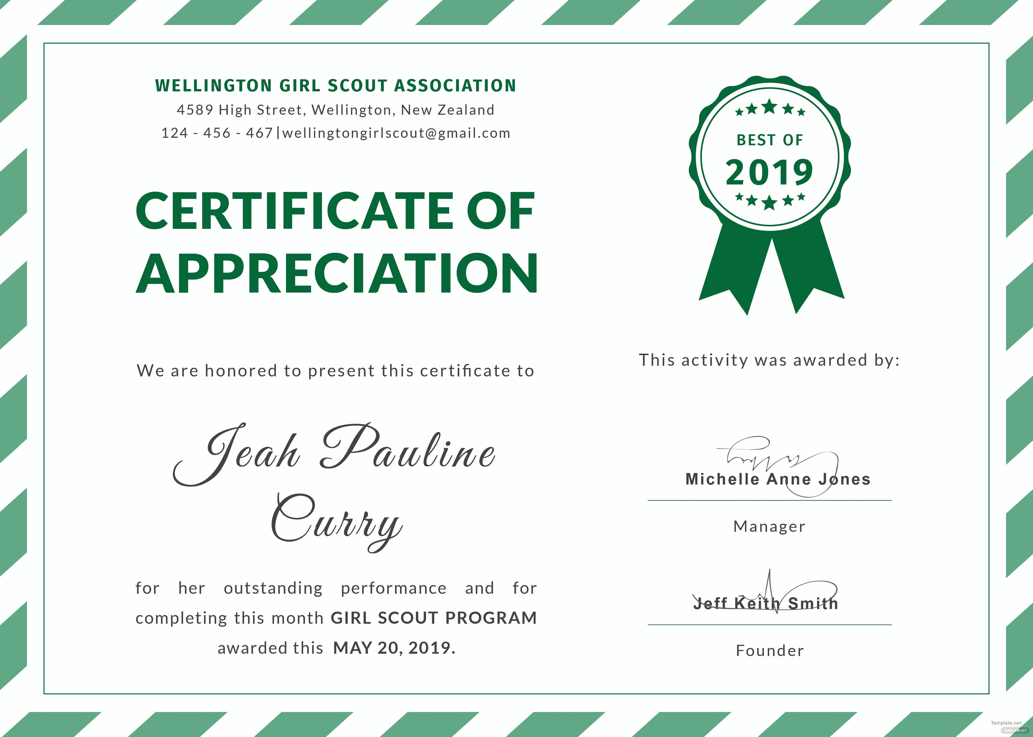 It's just a graphic of Eloquent Girl Scouts Certificates