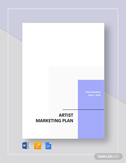 artist marketing plan