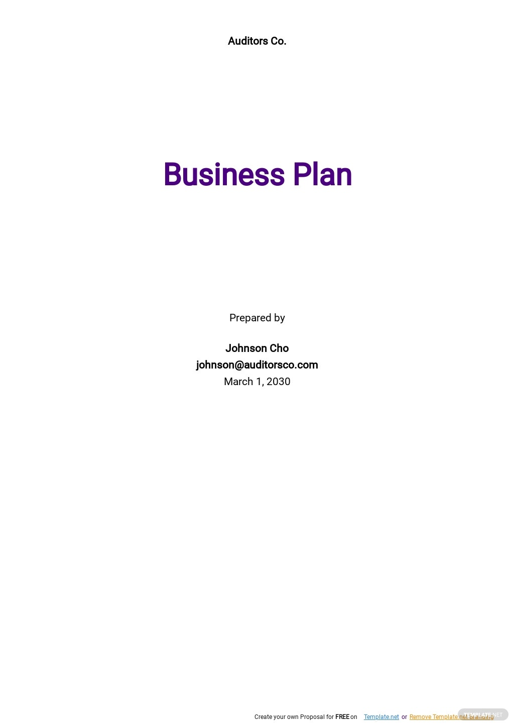 Auditing and Consulting Business Plan Template.jpe