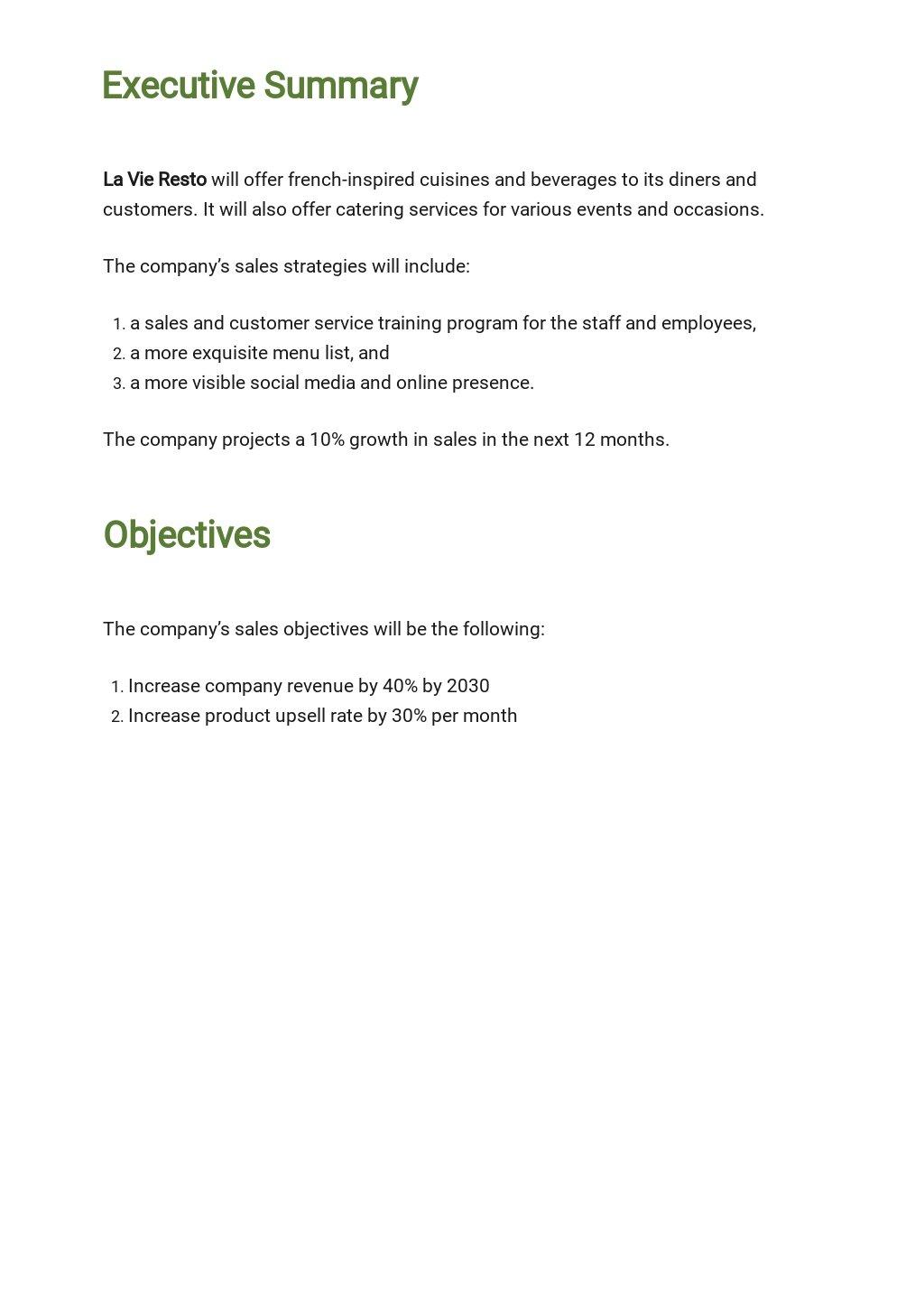 Restaurant Sample Sales Plan Template 1.jpe