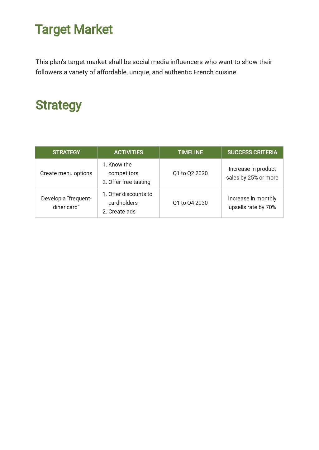 Restaurant Sample Sales Plan Template 2.jpe