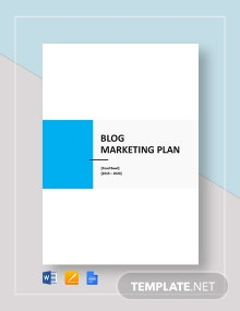 Blog Marketing Plan Template